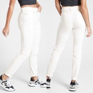 Athleta sculptek white skinny jeans 12 0760